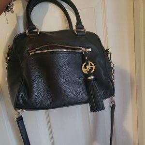 Authentic Michael Kors crossbody bag leather black